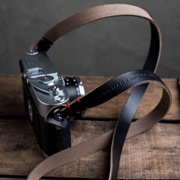 Kensington Leather Camera Strap (Black)