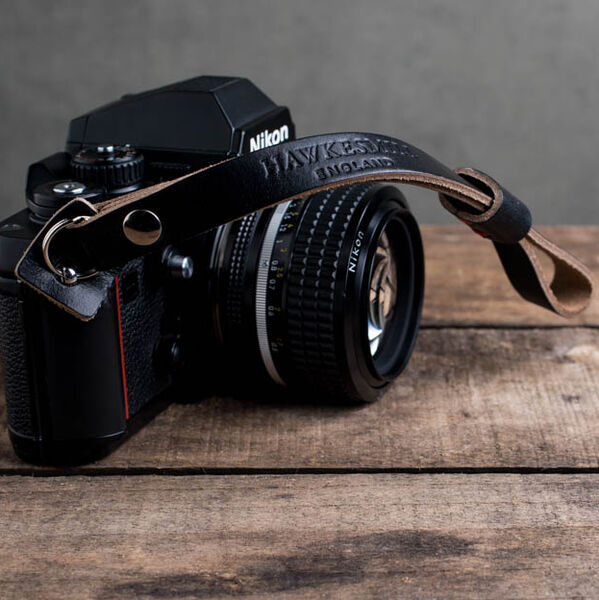 Oxford Leather Camera Wrist Strap (Black)