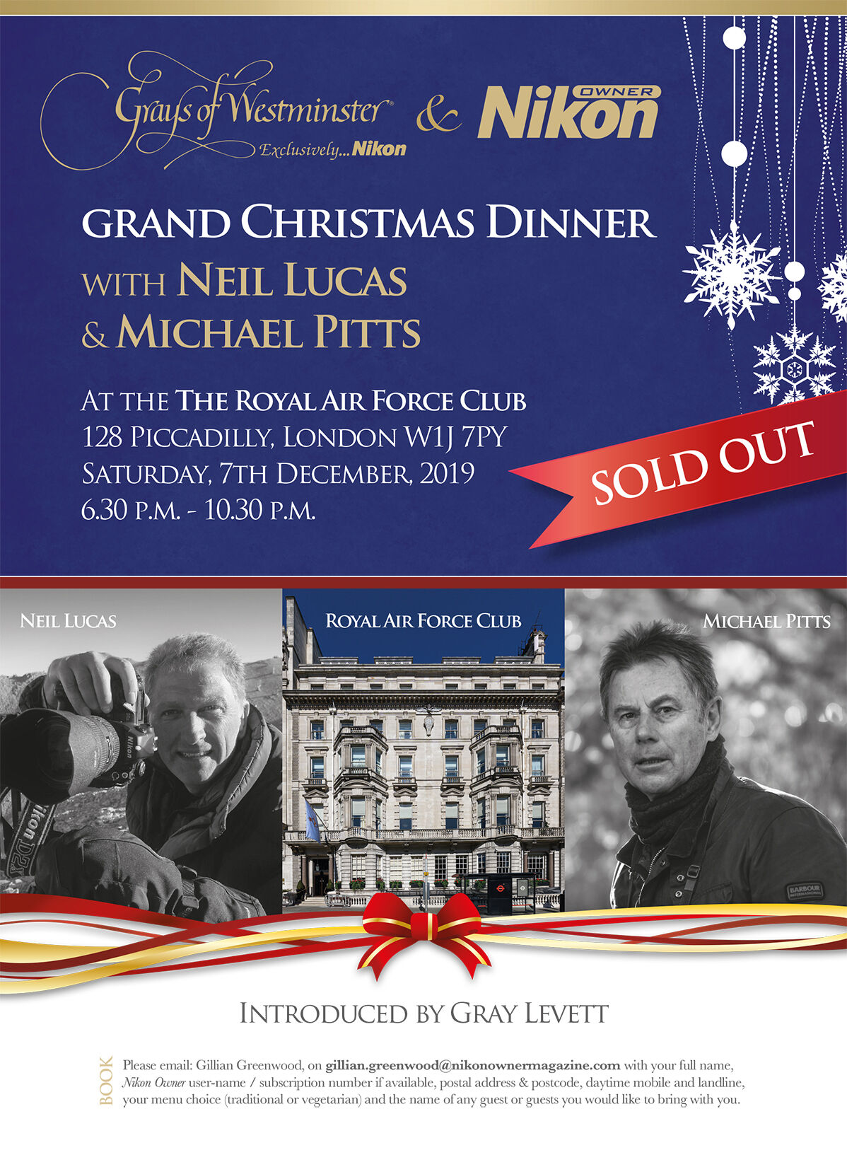 Grand Christmas Dinner with Neil Lucas & Michael Pitts